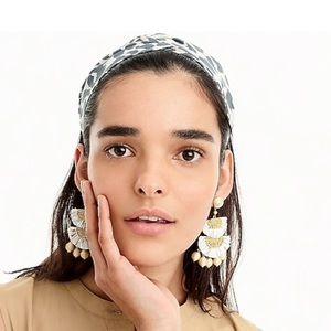 J. Crew Accessories - J. Crew Cotton Animal Print Headband